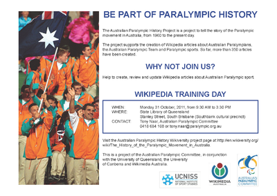 The History of the Paralympic Movement in Australia/Meetings