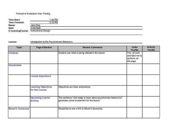 filecompleted user evaluation formpdf - What Is Evaluation Form