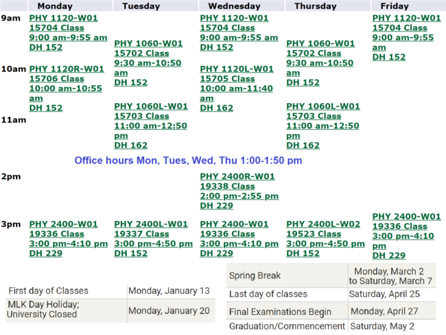 Vandegrift Teaching Schedule.png