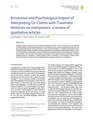 Emotional and Psychological Impact of Interpreting for Clients with Traumatic Histories on interpreters a review of qualitative articles.pdf