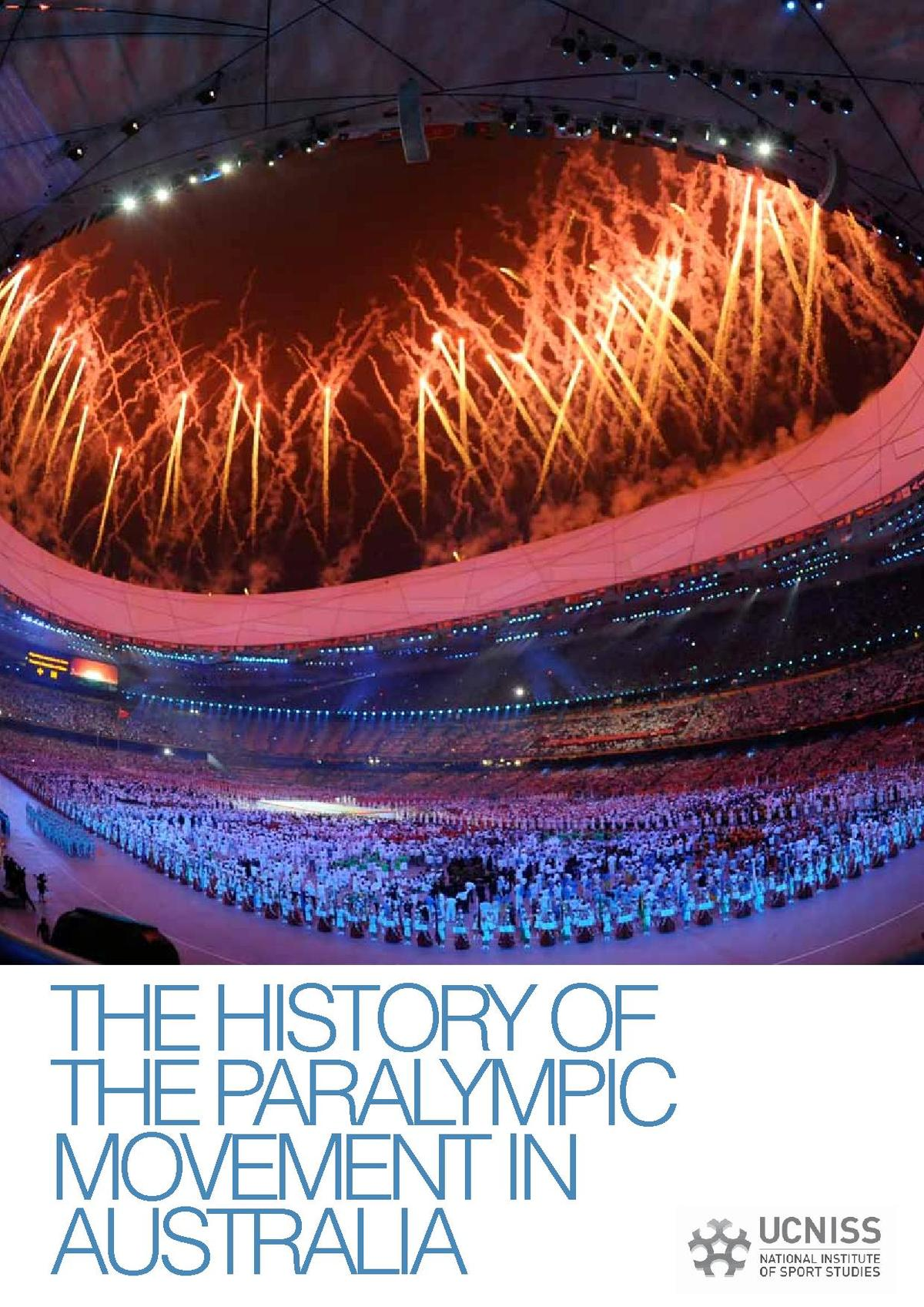 The History Of The Paralympic Movement In Australia Tender