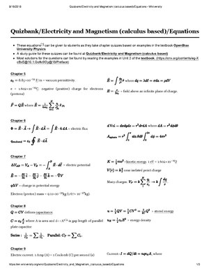 Quizbank/Electricity and Magnetism (calculus based) - Wikiversity