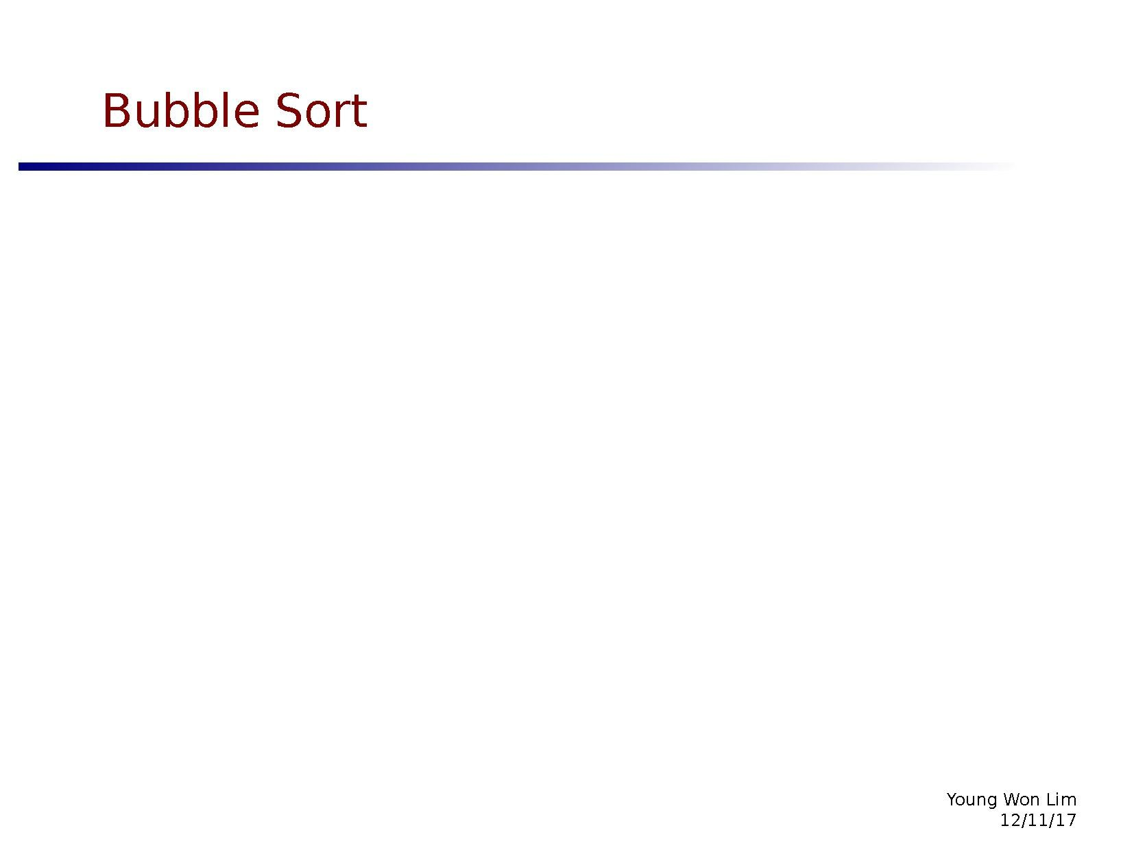 Bubble Sort Pdf