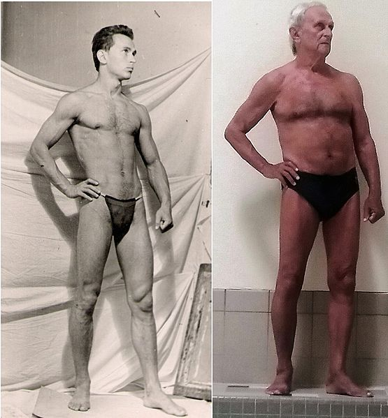File:The same man at 18 and 80 years old.jpg
