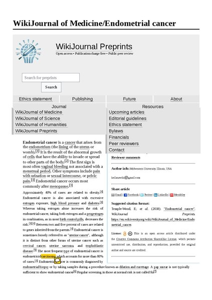 File:Endometrial cancer reviewer 2 pdf - Wikiversity