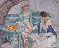 "Hilda Rix Nicholas painting ""The Summer House"".jpg"
