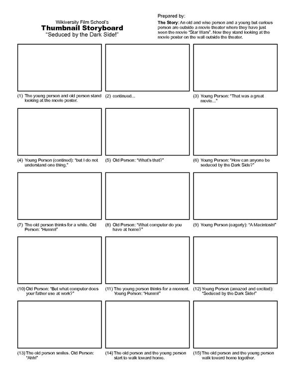 media storyboard template