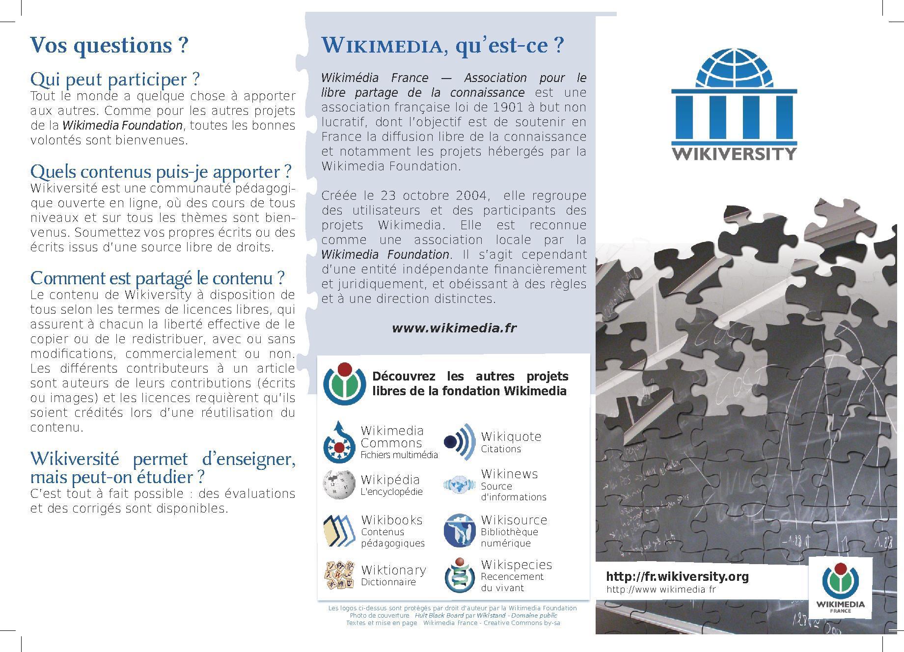 Projetpromotion De La Wikiversité Wikiversité