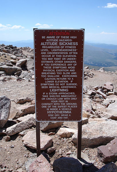 File:Altitude Sickness Warning Mount Evans Colorado.jpg