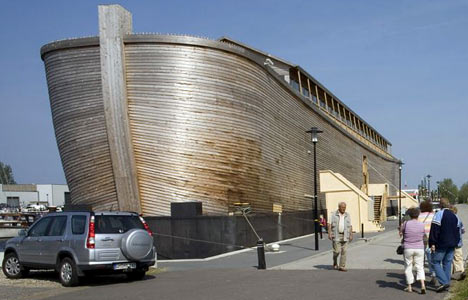 Huibers' ark stands at 150 cubits (68 metres) -Holland.jpg